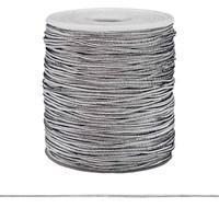 Шнур эластичный металлизированный 1 мм(серебро)