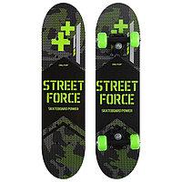 Скейтборд подростковый STREET FORCE 62х16 см, колёса PVC d=50 мм
