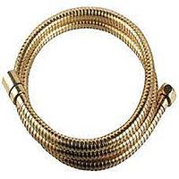 """Шланг душевой двухзагибный LeMark LE8041B-Gold, 0,5 м, латунь, покрытие """"золото"""", пакет"""