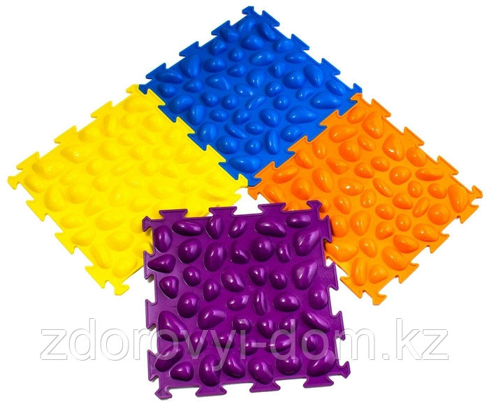 Массажный коврик «Цветные камешки» мягкий М-516