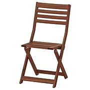 ÄPPLARÖ ЭПЛАРО Садовый стул, складной коричневая морилка