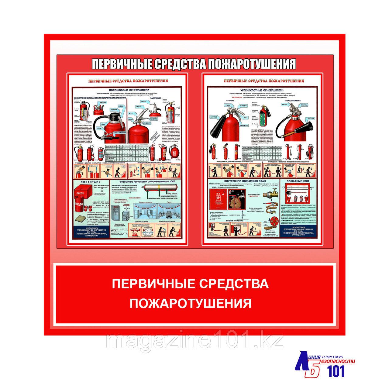 """Плакат """"Первичные средства пожаротушения"""""""