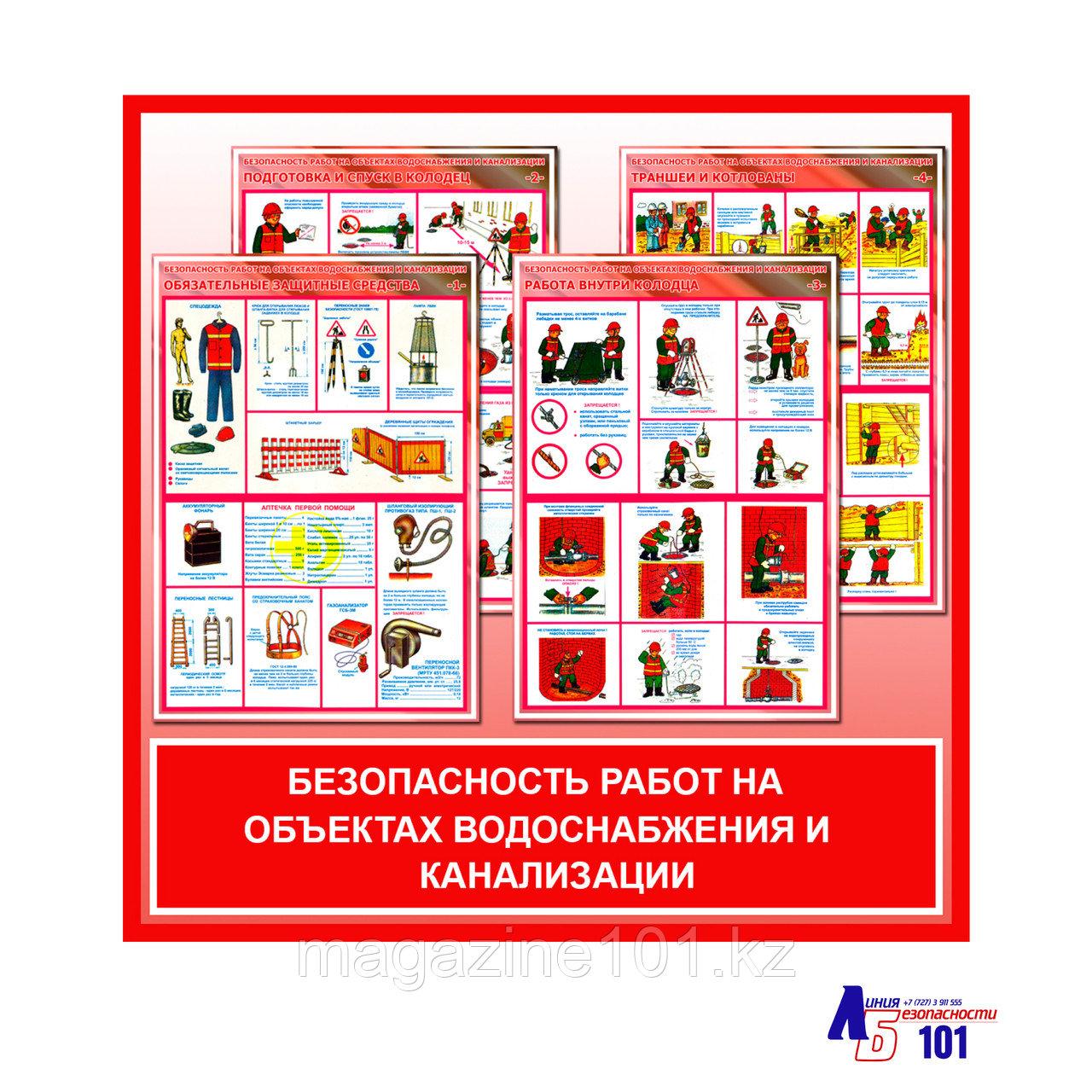 """Плакаты """"Безопасность работ на объектах водоснабжения и канализации"""""""