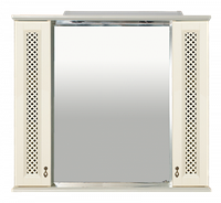 Вивьен - 90 Зеркало с 2-мя шкафчиками, слоновая кость