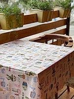 Водонепроницаемая маслостойкая плотная прямоугольная скатерть для чайного стола