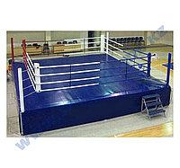 Ринг боксерский 6,1 х 6,1 м с помостом 7,8 х 7,8 х 1м AIBA стандарт (2 лесницы)
