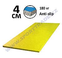 Татами дзюдо 4 см (1х2м) ПВВ 180 кг/м+антислип желтый