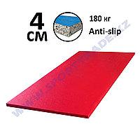 Татами дзюдо 4 см (1х2м) ПВВ 180 кг/м+антислип красный