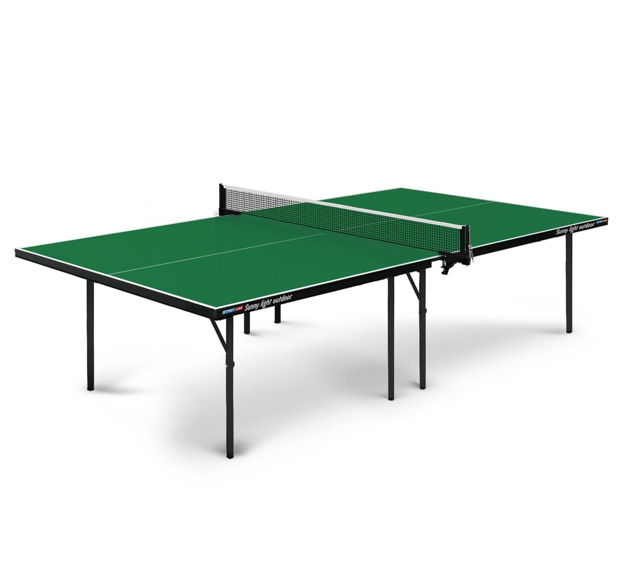 Теннисный стол Start line SUNNY light Outdoor Green - фото 1