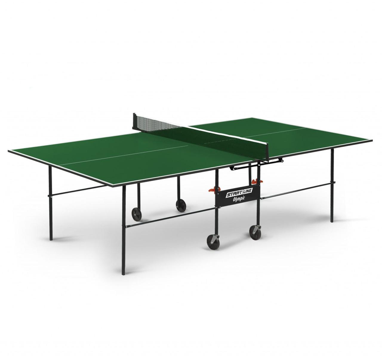 Теннисный стол Start line OLYMPIC Green - фото 1