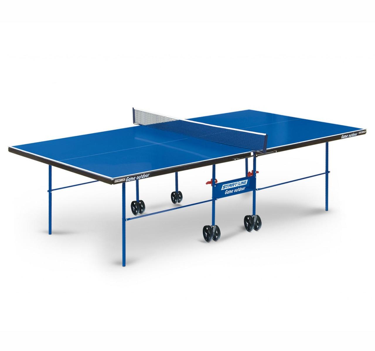Теннисный стол Start line GAME с сеткой Outdoor Blue - фото 1