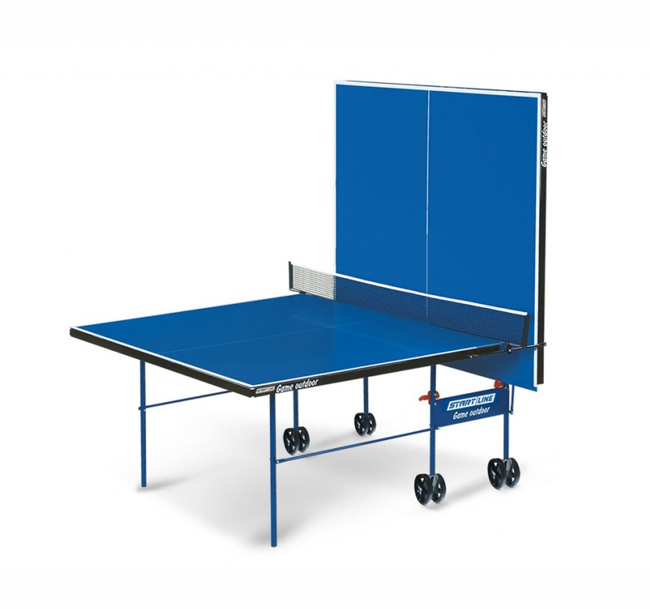Теннисный стол Start line GAME с сеткой Outdoor Blue - фото 2