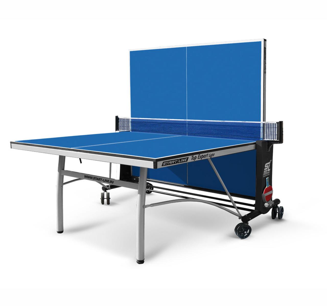 Теннисный стол Start line TOP EXPERT Light с сеткой Blue - фото 2