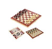 Игры 3в1 15*29см (шаш, шах, нар) Китай