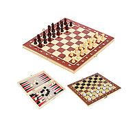 Игры 3в1 18*34см (шаш, шах, нар) Китай