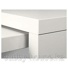 MALM МАЛЬМ Письменный стол с выдвижной панелью, белый 151x65 см, фото 3