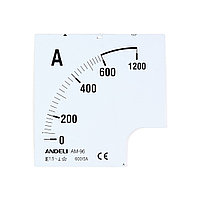 Шкала для амперметра ANDELI 1500/5 96*96 (new)