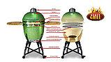 Керамический гриль-барбекю Start grill-22 (со стеклянным окошком), фото 2