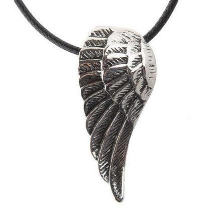 Кулон подвеска «Крыло ангела» на черной шнуровке, фото 2