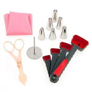 Набор инструментов для украшения торта профессиональный «Арсенал кондитера» (12 предметов с гвоздиком)