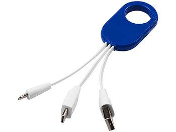 Кабель для зарядки 3-в-1, ярко-синий