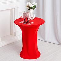 Чехол на стол, цв.красный, 60*120 см, 100% эластан