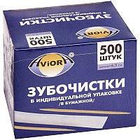 Зубочистки бамбуковые в индивидуальной упаковке Aviora, 500шт