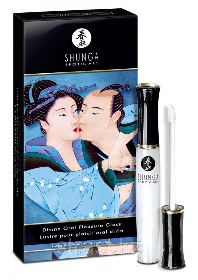 Блеск для губ с возбуждающим эффектом Divine Oral Pleasure Gloss - Shunga (только доставка)