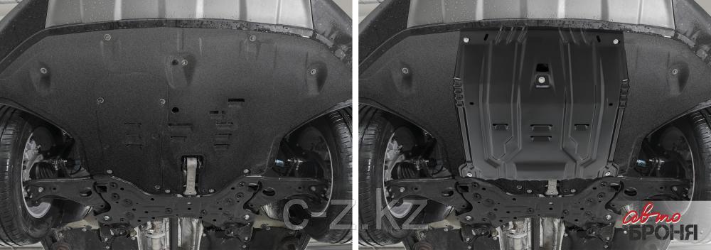 Защита двигателя и КПП для Hyundai Santa Fe 2018-, V - 2.2d; 2.4; 3.5, фото 2