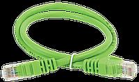 ITK Коммутационный шнур (патч-корд), кат.5Е UTP, 0,5м, зеленый шт