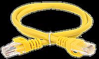 ITK Коммутационный шнур (патч-корд), кат. 5Е UTP LSZH 1м желтый шт
