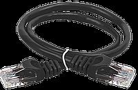 ITK Коммутационный шнур (патч-корд), кат.5Е UTP, 1м, черный шт