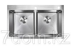 Кухонная мойка Avina Handmade 78*43 Нержавеющая сталь