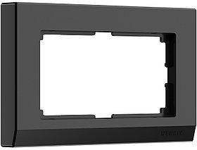 Рамка для двойной розетки /W0081808 (черный)