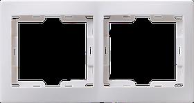 Рамка РГ-2-КБ 2местн. горизонт. КВАРТА (белый) ИЭК