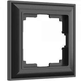 Рамка на 1 пост /W0012208 (черный матовый)