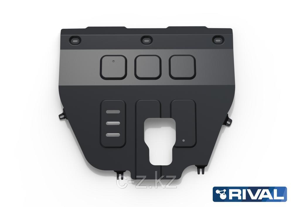 Защита двигателя и КПП для Hyundai Santa Fe 2021-, V - 2.2d; 2.5