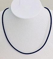 Шёлковый шнур / серебро - 40 см
