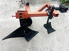 Плуг мотоблочный усиленный с предплужником и опорным колесом