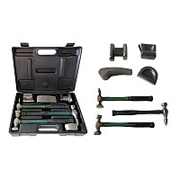 Набор инструментов рихтовочных для кузовных работ 7пр., в кейсе Rock FORCE