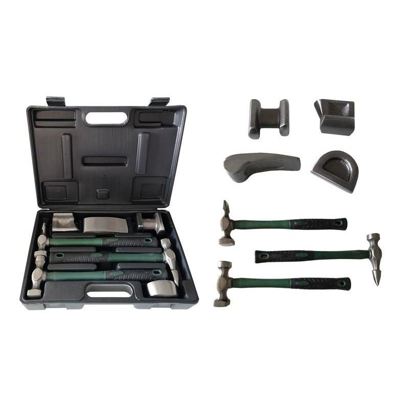 Набор инструментов рихтовочных для кузовных работ 7пр., в кейсе Rock FORCE - фото 1