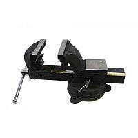 Тиски стальные поворотные с наковальней и съемными губками+захват для труб+захват для труб 5''-125мм