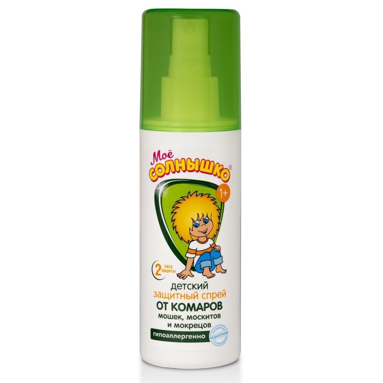 Мое солнышко защитный спрей от комаров с года 100мл детский