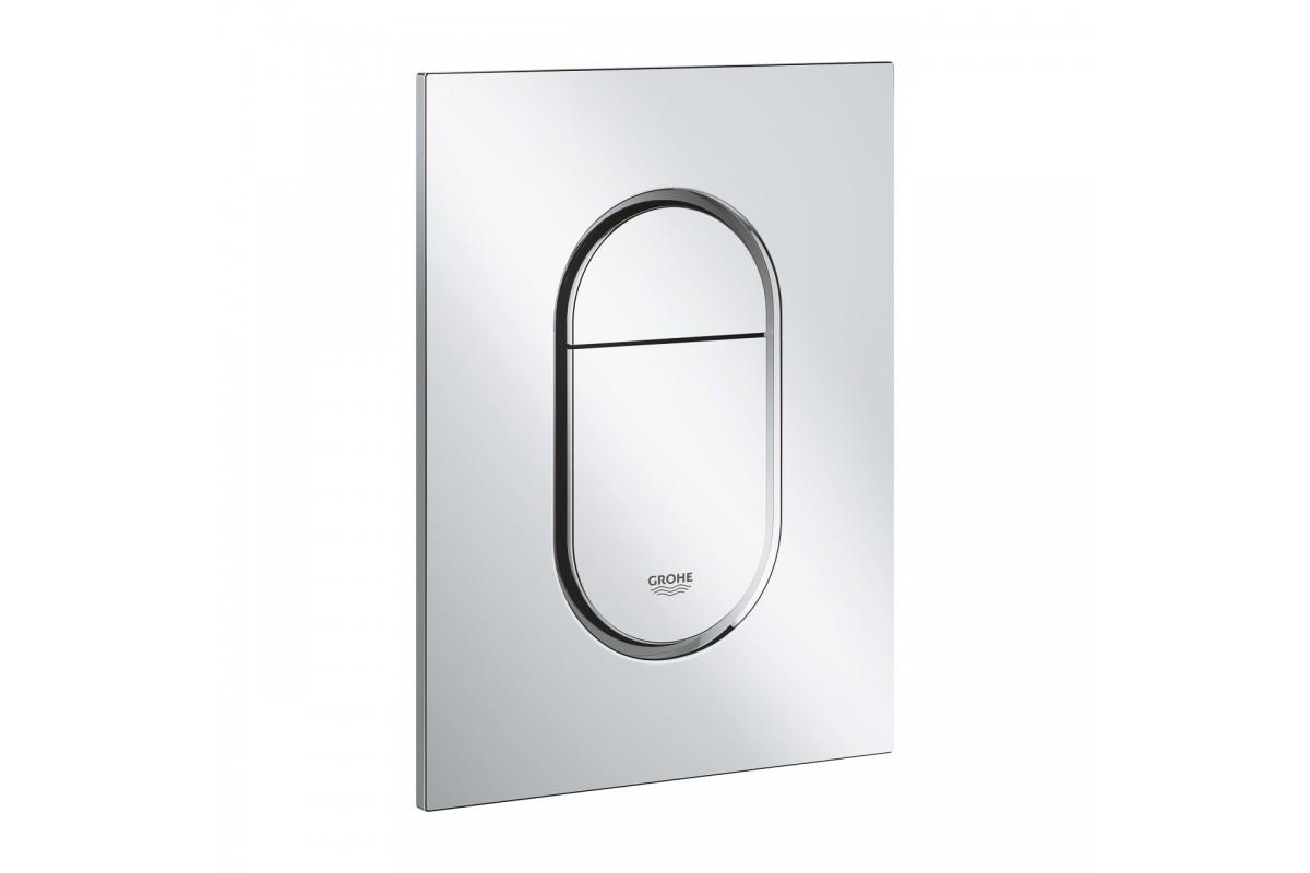 Кнопка для инсталляции Grohe Arena Cosmopolitan, овал, двойная, белая
