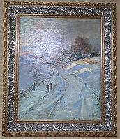 """Картина американского художника Max Herzoo """"Зимний пейзаж"""""""