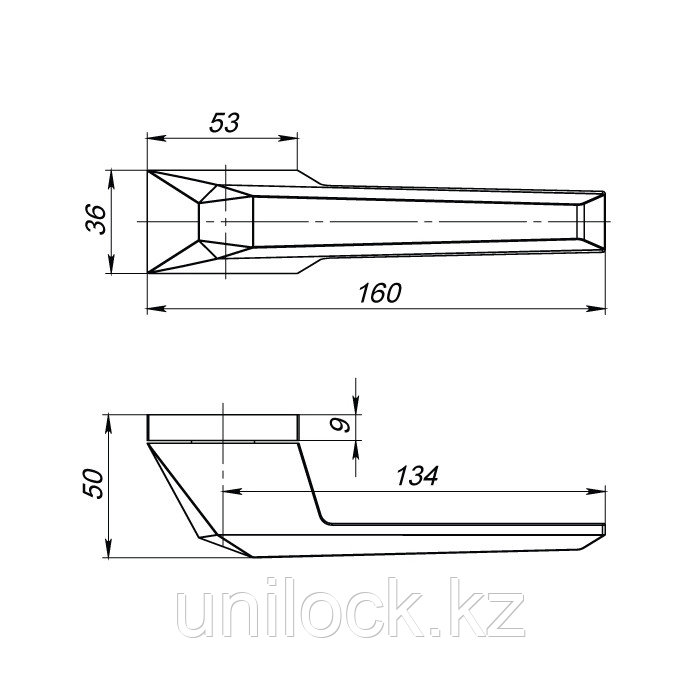 Ручка раздельная ARMADILLO CAVE STONE UCS СР-8 Хром - фото 2