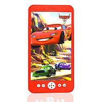Интерактивный телефон на батарейках со звуковыми и световыми эффектами Cars красный