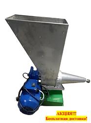 Шнековая соковыжималка СШ-1 220В, для яблок (до 200 кг/ч) и других фруктов не требующая периодической очистки