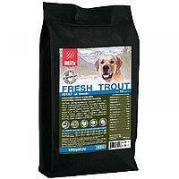 BLITZ ADULT FRESH TROUT низкозерновой корм для взр. собак Свежая Форель 12 кг