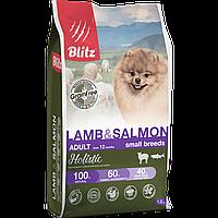 BLITZ ADULT LAMB & SALMON, беззерновой корм для взр. собак Ягненок & Лосось, 1,5 кг